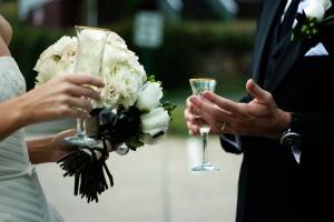 Wedding wine glass smaller