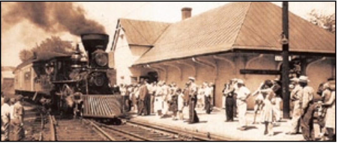 Luray Train Station, late 19th century.