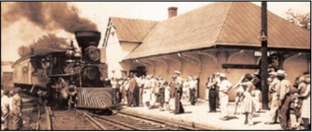 Luray Train Station, late 19th century.