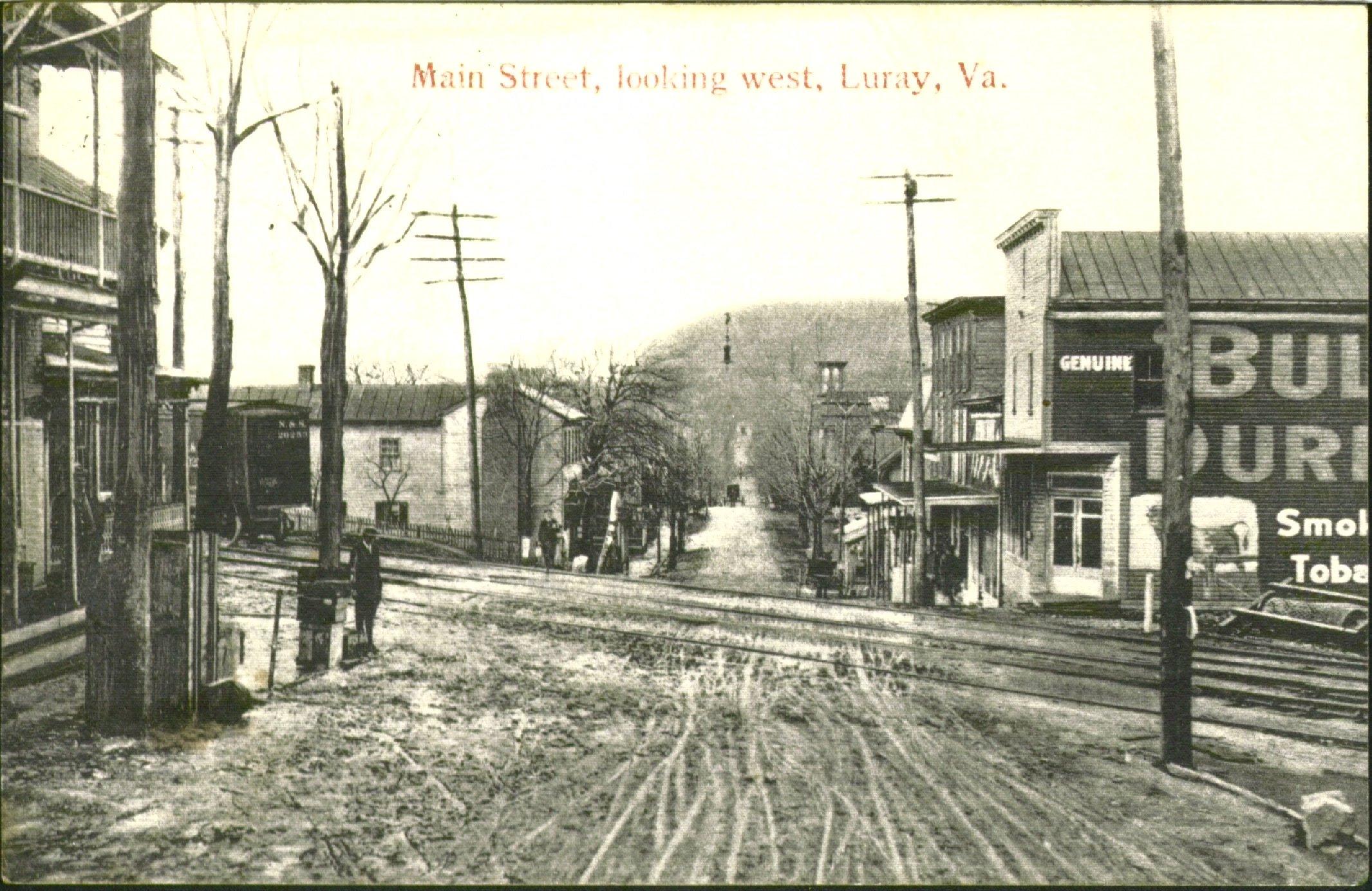 Main Street, looking west, Luray, VA, 1910. Photo by Bill McChesney.