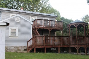 French Cottage feature private decks for each suite